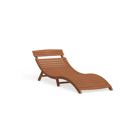 Shi Shi Curved Folding Chaise Lounger by Havenside Home