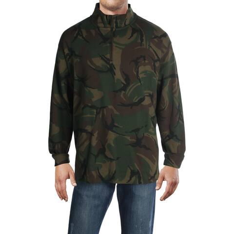 Polo Ralph Lauren Mens Big & Tall Estate Pullover Sweater Cotton 1/4 Zip - Multi