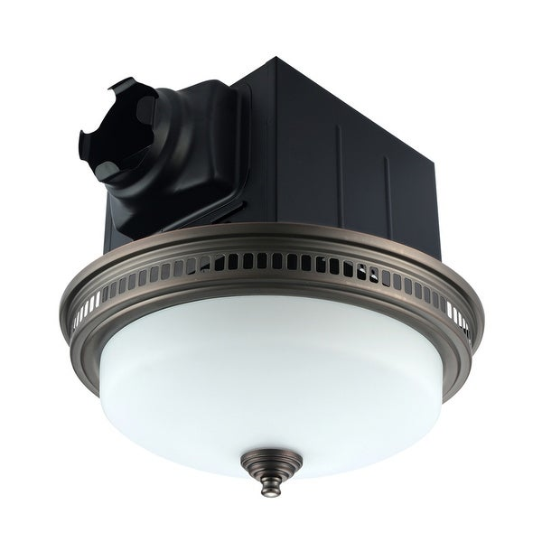 Ultra Quiet Bathroom Exhaust Fan with LED Light and Nightlight 110CFM 1.5 Sone Oil Rubbed Bronze Finish. Opens flyout.