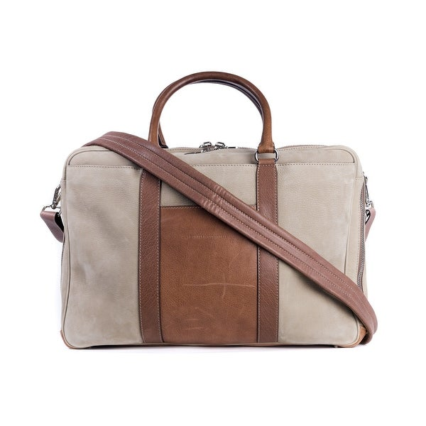 67efe5f5212e Brunello Cucinelli Men  x27 s Beige Natural Brushed Leather Holdall Bag ...