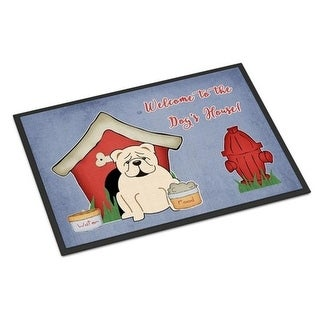 Carolines Treasures BB2877MAT Dog House Collection English Bulldog White Indoor or Outdoor Mat 18 x 0.25 x 27 in.