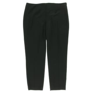 Calvin Klein Womens Solid Flat Front Dress Pants