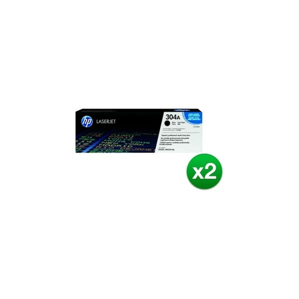 HP 304A Black Contract LaserJet Toner Cartridges (CC530AC)(2-Pack)