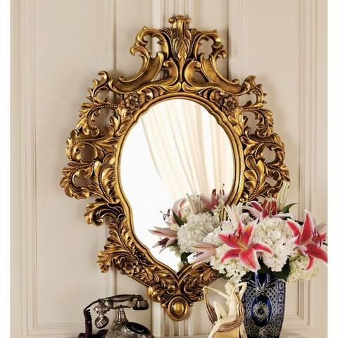 Design Toscano Madame Antoinette Salon Mirror - Antique Gold - 28 x 37