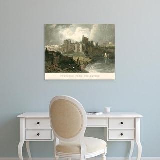 Easy Art Prints T. Allom's 'Chepstow from the Bridge' Premium Canvas Art
