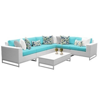 Florida 7-Piece Aluminum Framed Outdoor Conversation Set with Coffee Table