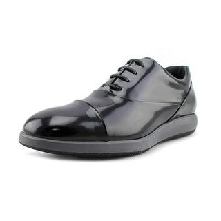Hogan H209 Dress X Mod Francesina Men Cap Toe Patent Leather Black Oxford