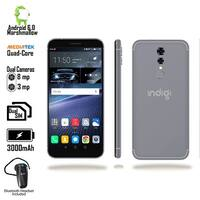 "4G LTE GSM Unlocked 5.6"" Android SmartPhone by Indigi (QuadCore @ 1.2GHz + Fingerprint Unlocking + Bluetooth Headset) Black"