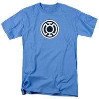 Green Lantern Blue Lantern Logo Mens Short Sleeve Shirt