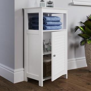 Link to RiverRidge Home Ellsworth Single Door Floor Cabinet Similar Items in Bathroom Cabinets
