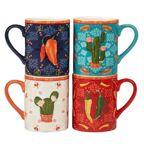 Certified International Fiesta 18 oz. Mugs, Set of 4