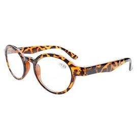 Eyekepper Spring Hinges Round Retro Reader Reading Glasses Tortoise +4.00