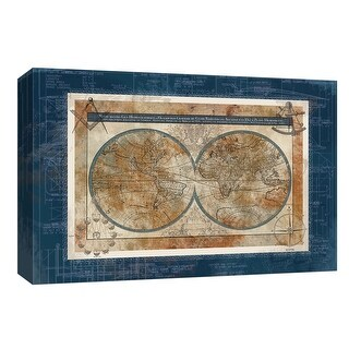 "PTM Images 9-148064  PTM Canvas Collection 8"" x 10"" - ""Blueprint of the World"" Giclee Maps Art Print on Canvas"