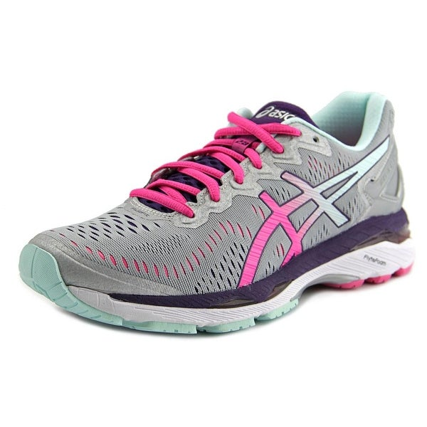Asics Gel Kayano 23 Women Round Toe Synthetic Gray Running Shoe