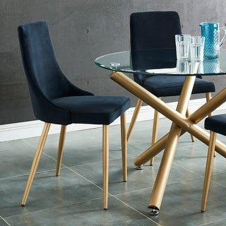 Link to Carmilla Side Velvet Upholstered Chair (Set of 2) Similar Items in Dining Room & Bar Furniture