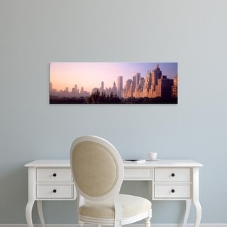 Easy Art Prints Panoramic Images's 'Central Park & buildings New York NY USA' Premium Canvas Art