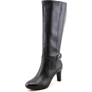 Anne Klein Strahan Round Toe Leather Knee High Boot