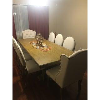 Gilderoy Natural Oak Finish Rectangular Extendable Dining Set by iNSPIRE Q Artisan