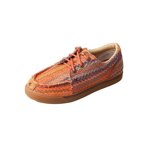 HOOey Casual Shoes Kids Lace Up Lopers Canvas Orange Multi
