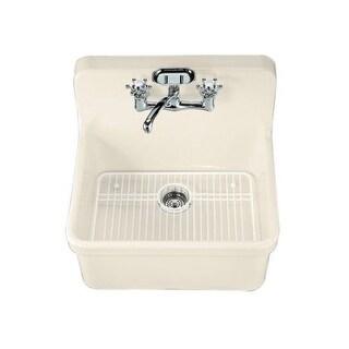 "Kohler K-12701 Gilford 24"" Single Basin Wall-Mount/Top-Mount Kitchen Sink with Apron-Front"