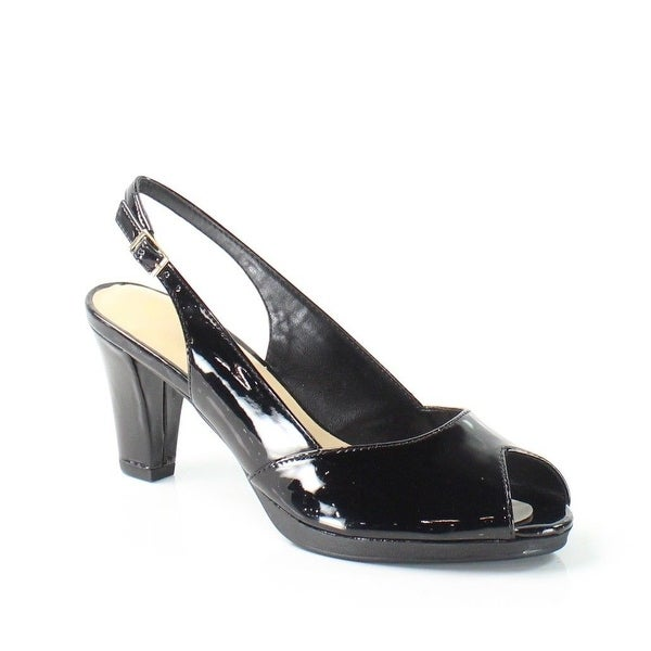 Bella Vita NEW Black LisetII Shoes Size 8N Patent Slingbacks Heels