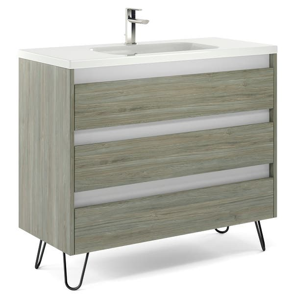 40 Bathroom Vanity Freestanding Cabinet Sink Legs Docce Fs W40 X H35 X D18 In Rhd Pine Wood Overstock 32172709