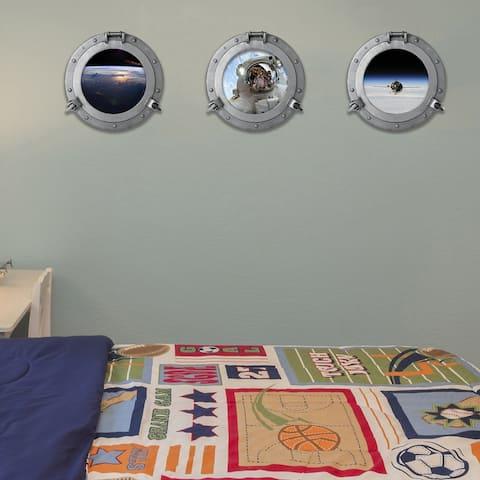 Walplus Peel and Stick Wall Stickers Air Space Window View Kids Art