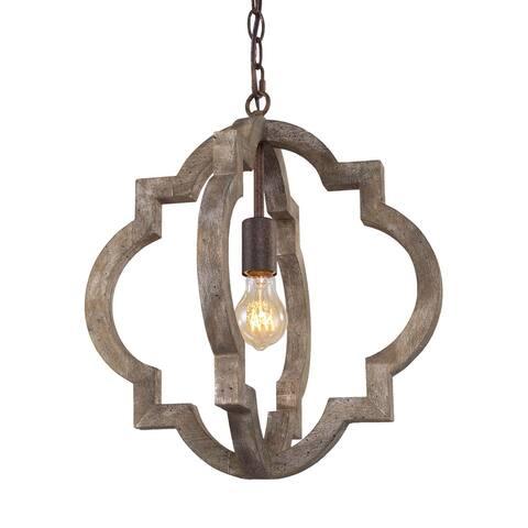 "Modern Farmhouse Pendant Vintage Lantern Chandelier Lighting - D 16""x H 17.5"""