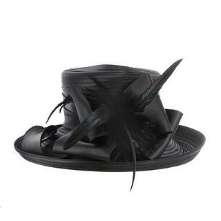 ChicHeadwear Braid w/ Bow and Feather Hat