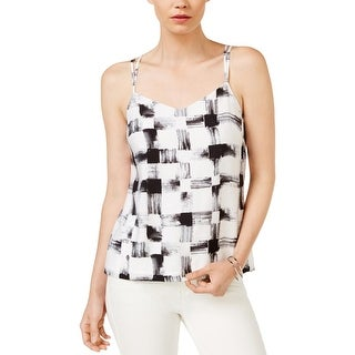 Armani Exchange Womens Tank Top Printed Strappy