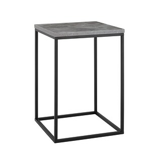 "Delacora WE-BDF16LWST  Lovett 16"" Long Laminate Top Metal Contemporary Side Table"