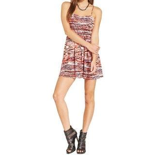 Material Girl Womens Juniors Clubwear Dress Printed Cut-Out