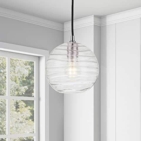 Wayve Glass & Metal Spherical Pendant