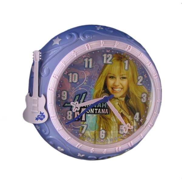 Disney Hannah Montana 8 Inch Purple Wall Clock