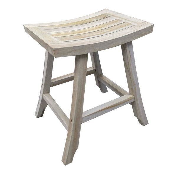 The Gray Barn Hill Top Solid Teak Bistro Height Kitchen and Bar Stool. Opens flyout.