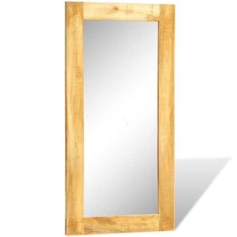 "vidaXL Solid Wood Framed Rectangle Wall Mirror 47.2""x23.6"" - Brown"