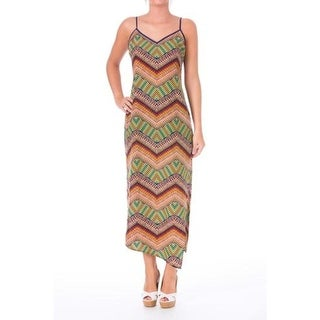 Sanctuary Womens Juniors Printed Side Slit Tank Dress - XS