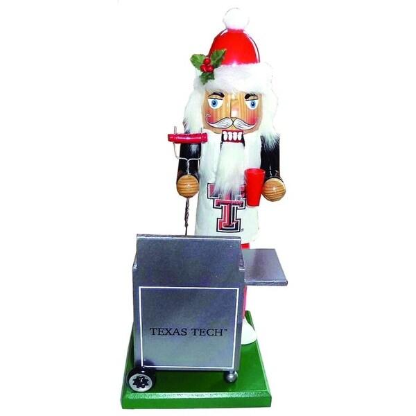 "12"" NCAA Texas Tech Red Raiders Sports Tailgating Wooden Christmas Nutcracker"