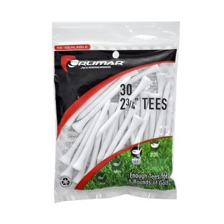 Orlimar 2 3/4-Inch Golf Tees 30-Pack (White)