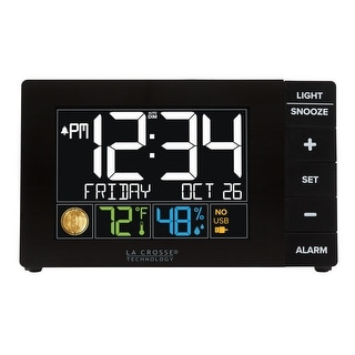 Link to La Crosse Technology W88723 Color Alarm with Temp & humidity with USB Similar Items in Decorative Accessories