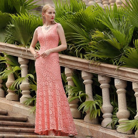 Ever-Pretty Women Elegant V-neck Lace Evening Dress 08838