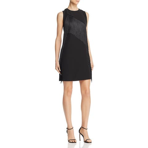 Laundry by Shelli Segal Womens Sheath Dress Fringe Mini