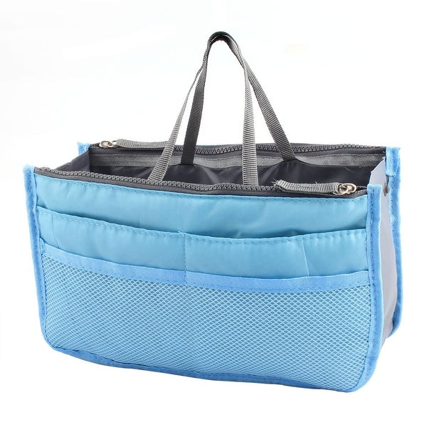 Unique BargainsOutdoor Clothing Storage Bag Organizer Luggage Package  Packing Pouch Cube Blue