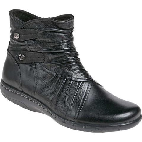 Rockport Women's Cobb Hill Pandora Ankle Boot Black Full Grain Burnished Leather