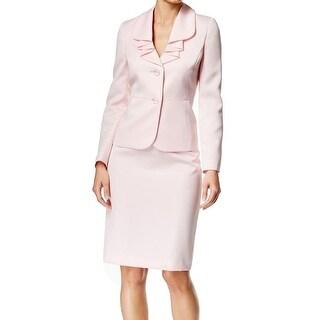 Le Suit NEW Pink Tutu Women's Size 10 Ruffle-Pleated Skirt Suit Set