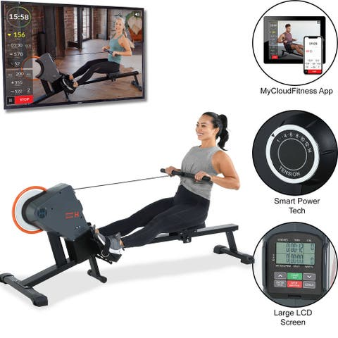 Womens Health Mens Health Bluetooth Magnetic Rower with MyCloudFitness App
