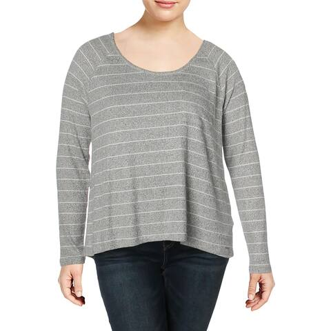 Calvin Klein Jeans Womens Pullover Top Ribbed Striped - XL