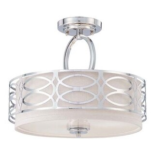 Nuvo Lighting 60/4629 Harlow 3 Light Semi-Flush Indoor Ceiling Fixture - 15 Inches Wide