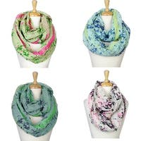 """Fashion Lightweight Scarves 4pc.Pack - 35"""" x 35"""" (70"""" circumference)"""