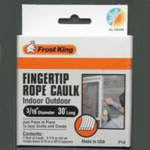 "Frost King P14H Rope Caulk, 3/16"" x 30', Grey"